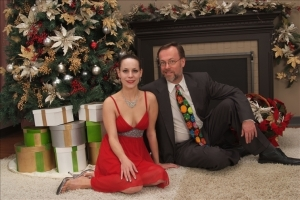 My daughter, Heather, and I at Christmas 2007