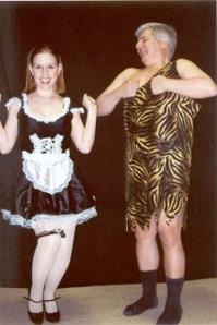 Karen Roorda and Steve Allen (Don't you just love thos socks?)