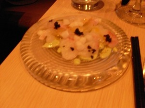 Another ceviche which included trout roe on a super chilled glass plate. This dish was a pure delight!