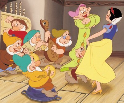 This Snow White scene was also used in The Aristocats and Robin Hood