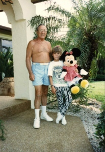 Heather and her Pop-pop in the late 80's.