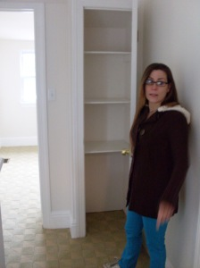 Heather and the linen closet