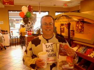 It's Preston-Cow with his FREE Chicken Combo Meal. Chick-fil-A Rocks!